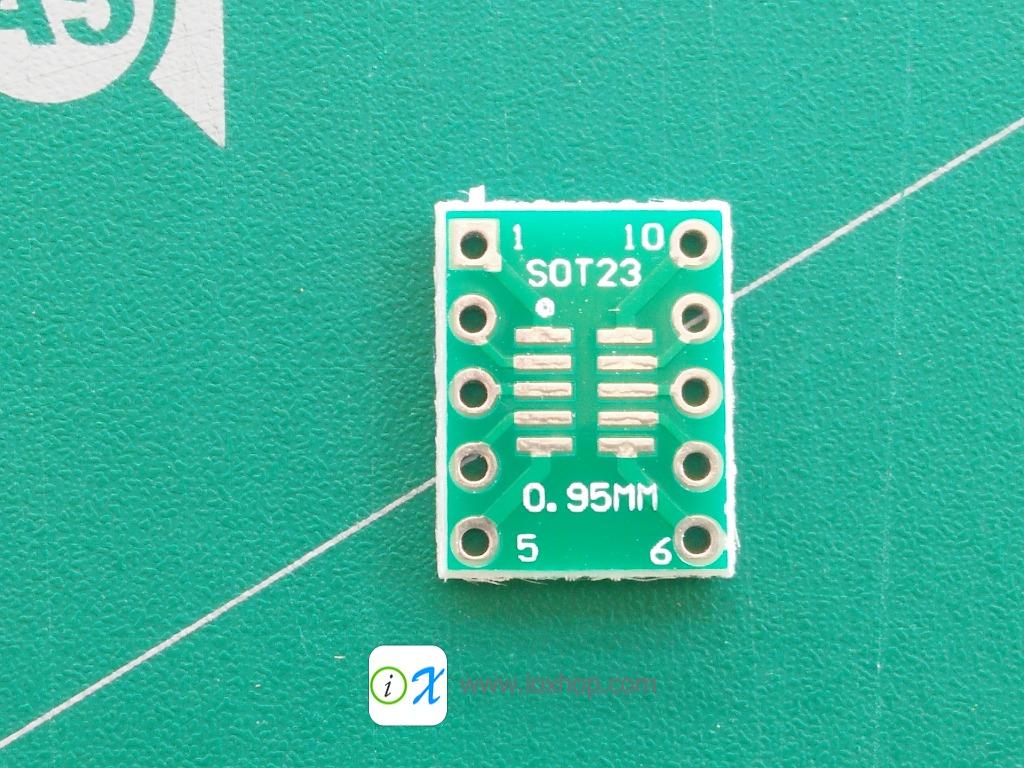 PCB Adapter SOT23 SOP10 MSOP10 SOP23 to DIP10