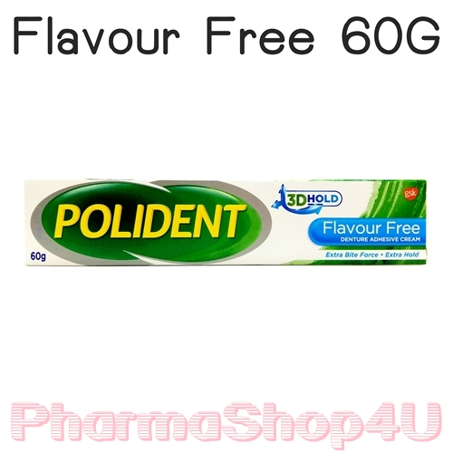 Polident Flavour Free Denture Adhesive Cream 60 G โพลิเดนท์ ครีมติดฟันปลอม ชนิดไร้กลิ่น