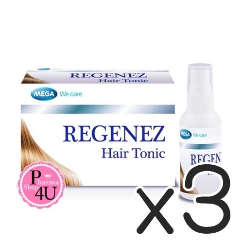 (ซื้อ3 ราคาพิเศษ) MEGA We Care REGENEZ HAIR TONIC 30ML โทนิคบำรุงผม อุดมด้วยสารสกัดจากธรรมชาติ บำรุงรากผม และปรับสภาพเส้นผมและหนังศรีษะ