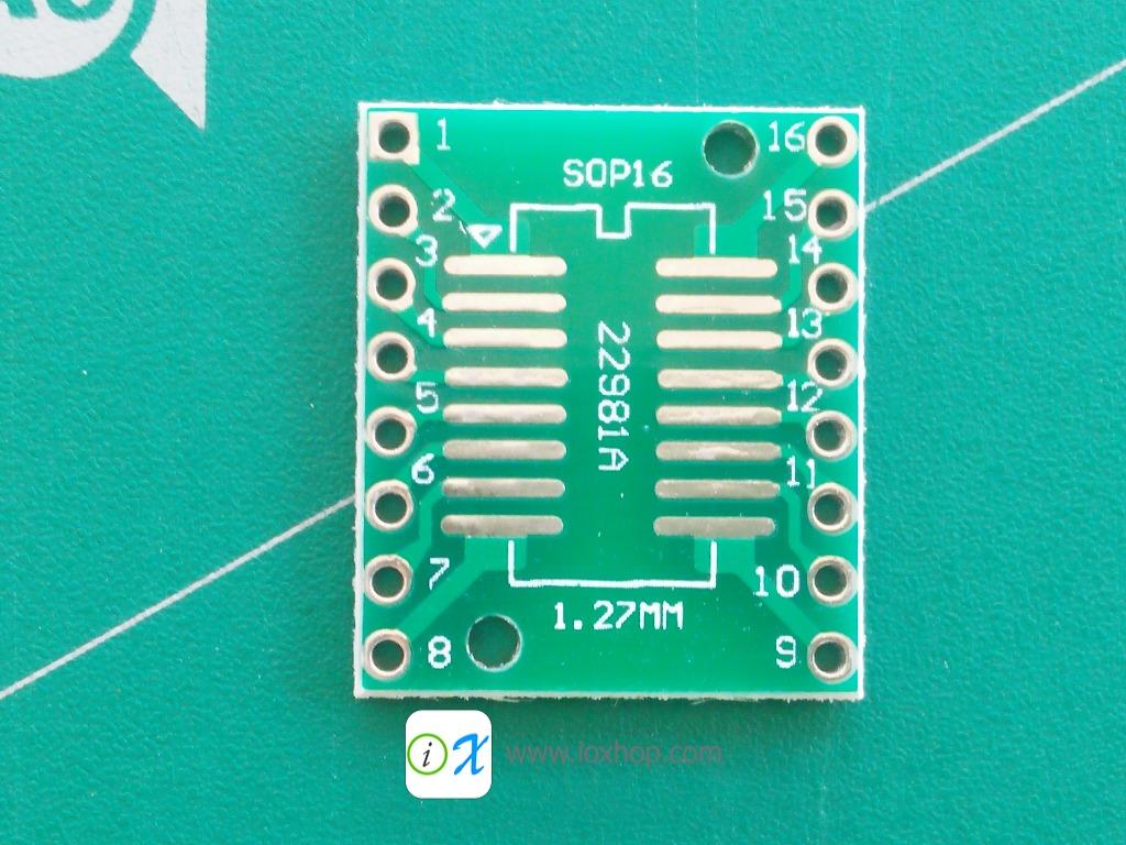 V2 PCB Adapter SOP16 SSOP16 TSSOP16 to DIP16