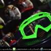 แว่นวิบาก (Goggle) สีพื้นเขียว (ปลายจมูกแหลม) เลนส์สีใส สำเนา