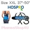 (ซื้อ3 ราคาพิเศษ) HOSPRO Back Support SIZE XXL เข็มขัดพยุงหลังแบบมีสาย รูปแบบเว้าพุง ไม่อึดอัด
