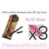 (ซื้อ3 ราคาพิเศษ) Mei linda Miracle Color Fit Lip Liner #10 Rose เมลินดา ดินสอเขียนขอบปาก 1.5 กรัม