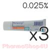 (ซื้อ3 ราคาพิเศษ) Retacnyl Cream Tretinoin 0.025% 30G รีแทคนิล ครีม รักษาสิว ช่วยผลัดเซลล์ผิว พร้อมเพิ่มความชุ่มชื้นด้วย สคอวรีน กรีเซอรีน