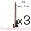 (ซื้อ3 ราคาพิเศษ) (#03 Sweet Holic) Eglips Ultra Auto Gel Eyeliner ดินสอเขียนขอบตาแบบออโต้ เนื้อเจลเนียนนุ่ม เขียนง่าย แห้งเร็ว เม็ดสีคมชัด สูตรกันน้ำ ติดทนนานตลอดวัน