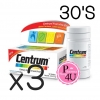 (ซื้อ3 ราคาพิเศษ) CENTRUM สูตรใหม่ 30 เม็ด เพิ่ม LUTEIN Betacarotene บำรุงสายตา บำรุงร่างกาย และระบบประสาท
