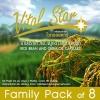 (แพค 8ขวด) Vital Star Rice Bran and Germ Oil Capsules 60เม็ด อาหารเสริมน้ำมันรำข้าวและจมูกข้าว สุขภาพดี ผิวพรรณ สดใส