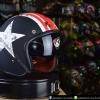 หมวกกันน็อคคลาสสิก 5เป๊ก (มีแว่น) สี Star Dust ดำด้าน