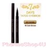 (#02 Dark Brown) Tony Moly 7 Days Tattoo Eyebrow ปากกาเขียนคิ้ว ปากกาสักคิ้ว สุดฮิตจากเกาหลี เส้นคมชัด เขียนง่าย สีติดทนนาน กันน้ำ กันเหงื่อ