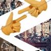 ถุงมือแนววินเทจ คลาสสิก สีเหลือง