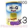 (ซื้อ3 ราคาพิเศษ) (แพ้นมวัว) HI-Q ไฮคิว เปปติ นมผงสำหรับทารกแรกเกิดถึง 1 ปี 400 กรัม โปรตีนเวย์ ที่ย่อยสลายให้เป็นโปรตีนขนาดเล็ก สามารถใช้ดื่มแทนนมวัวและใช้ปรุง