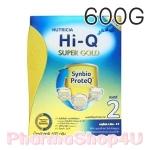 สูตร2 นมผง Hi-Q Super Gold 6เดือน-3ปี 600 กรัม ไฮคิว ซูเปอร์โกลด์ ซินไบโอโพรเทก Synbio ProteQ มี GOS/LcFOS, DHA ARA