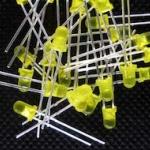 LED ขนาด 3mm สีเหลือง LED 3mm Yellow