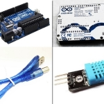 ซื้อ Arduino UNO R3 Official Version with USB Cable แถมฟรี DHT11 Temperature and Humidity Sensor Module with cables