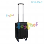 Fantastico Grand Suitcase 19in (49cm) Black/Blue no.TF30/5/BL-S