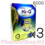 (ซื้อ3 ราคาพิเศษ) สูตร1 นมผง Hi-Q Super Gold แรกเกิด-1ปี 600 กรัม ไฮคิว ซูเปอร์โกลด์ ซินไบโอโพรเทก Synbio ProteQ มี GOS/LcFOS, DHA ARA
