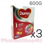 (ซื้อ3 ราคาพิเศษ) DUMEX ดูเม็กซ์ นมผง ดูแลค 600 กรัม มีดีเอชเอและเออาร์เอ มีวิตามินเอ ช่วยในการมองเห็น มีใยอาหาร