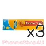 (ซื้อ3 ราคาพิเศษ) Redoxon Zinc เรด็อกซอน ซิ้งค์ บรรจุ 15 เม็ดฟู่ สำหรับเสริมการวิตามิน ซี และธาตุสังกะสี ในภาวะที่ร่างกายต้องการเพิ่มหรือได้รับไม่เพียพอ