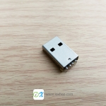 USB 2.0 Type-A Male Connector 4pin PCB Socket
