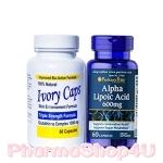 ***หมด*** เซทสุดคุ้ม Ivory Caps (60S) + Puritan ALA Alpha Lipoic Acid 600mg (60S) จับคู่ความขาว ขาวเร็ว ขาวไว ตามสูตรพี่โดม