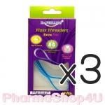 (ซื้อ3 ราคาพิเศษ) Floss Threaders Extra Thin 10 ชิ้น ตัวนำร่องไหม ยืดหยุ่นและบาง สามารถซอกซอนเข้าซอกฟันได้ดี