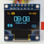 "0.96"" OLED SPI Yellow Blue จอภาพ"