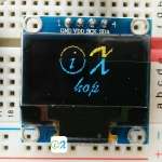 "128X64 0.96"" OLED Display Module (Yellow-Blue)"