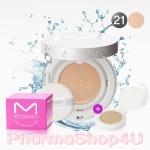 (#21 สำหรับผิวขาว ) Macqueen Mineral CC Cushion Cover SPF50+ PA+++ 13g แมคควีน ซีซี คุชชั่น แป้งน้ำ พร้อมพัฟในตลับ ให้ผิวเนียนเรียบ ฉ่ำวาว สวยใสสไตล์เกาหลี