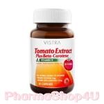 Vistra Tomato Extract 30เม็ด Plus Beta-Carotene & Vitamin E Lycopene ไลโคปีนจากมะเขือเทศ ผิวขาวใสอมชมพู สดใส ลดริ้วรอย
