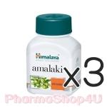 (ซื้อ3 ราคาพิเศษ) Himalaya Amalaki 60เม็ด แหล่งธรรมชาติที่สูงที่สุดของวิตามินซี ต่อต้านอนุมูลอิสระ บำรุงผิว ขาวใส ต่อต้านริ้วรอย