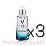 (ซื้อ3 ราคาพิเศษ) VICHY Mineral 89 Serum 50mL พรีเซรั่มน้ำแร่เข้มข้น เพียง 28 วัน ผิวดูเด้งนุ่ม เรียบเนียน ดุจผิวเด็ก สีผิวดูเรียบเนียน สม่ำเสมอ ดูเปล่งประกาย