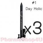 (ซื้อ3 ราคาพิเศษ) (#01 Day Holic) Eglips Ultra Auto Gel Eyeliner ดินสอเขียนขอบตาแบบออโต้ เนื้อเจลเนียนนุ่ม เขียนง่าย แห้งเร็ว เม็ดสีคมชัด สูตรกันน้ำ ติดทนนานตลอดวัน