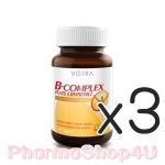 (ซื้อ3 ราคาพิเศษ) Vistra B-Complex Plus Ginseng 30 เม็ด วิสตร้า วิตามินบีรวมผสมโสม ฟื้นฟูพลังงาน ป้องกันสมองอ่อนเพลีย
