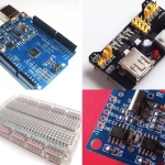 โปรโมชั่น Arduino Uno R3 Upgraded Version with USB Cable (CH340)+RTC I2C DS1307+Power Supply+Mini Transparent Board