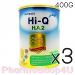 (ซื้อ3 ราคาพิเศษ) Dumex Hi-Q H.A 2 ไฮคิว เอช เอ 2 พรีไบโอโพรเทก 400 กรัม นมผงสูตรสำหรับ 6เดือน-3ปี ที่มีความเสี่ยงต่อภูมิแพ้ และแพ้โปรตีนนมวัว