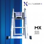 บันไดอลูมิเนียม ยืดหดได้ MX-28 ทรงพาด 5.6 เมตร, ทรง A 2.8 เมตร