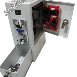กล่องหยอดเหรียญ รุ่นB2 เปิดข้าง(หน้าเงิน)