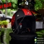 หมวกกันน็อคคลาสสิก 5เป๊ก สีดำด้านลายแดง (LB Speed Wheel) thumbnail 2