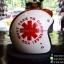 หมวกกันน็อคคลาสสิก 5เป๊ก สีขาวลายแดง (LB Speed Wheel) thumbnail 1