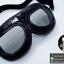 แว่นคาดหมวกกันน็อค แนววินเทจ ขอบดำ เลนส์สีดำอ่อนๆ thumbnail 1