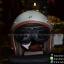 แว่นคาดหมวกกันน็อค แนววินเทจ ขอบดำ เลนส์สีดำอ่อนๆ thumbnail 4