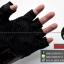 ถุงมือpro-biker (ครึ่งนิ้ว) สีดำ (ราคาพิเศษ) thumbnail 5