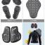 เสื้อการ์ดผู้หญิง komine jk-069สีดำ-ส้ม thumbnail 7