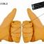 ถุงมือแนววินเทจ คลาสสิก สีเหลือง thumbnail 3