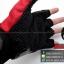 ถุงมือpro-biker (ครึ่งนิ้ว) สีแดง (ราคาพิเศษ) thumbnail 6