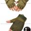 ถุงมือวินเทจ ครึ่งนิ้ว สีเขียว thumbnail 2