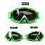 แว่นวิบาก (Goggle) สีพื้นเขียว (ปลายจมูกแหลม) เลนส์รุ้ง สำเนา thumbnail 1