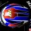 หมวกกันน็อคReal รุ่นBravo GP สีน้ำเงิน-แดง-ทอง thumbnail 10