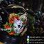 หมวกกันน็อคMT Revenge Skull & Roses - Gloss Black / Red thumbnail 4