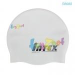 Intex หมวกว่ายน้ำซิลิคอน สีขาว